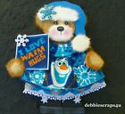OLAF FROZEN SNOW GIRL TEAR BEAR PAPER PIECE PREMADE SCRAPBOOK PAGES CARDS DEBBIE