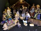 Kirkland Signature Nativity Set LARGE 18+ Pc Fabrics Flocked Animals Rare LOOK