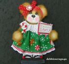 CHRISTMAS GIRL TEAR BEAR PAPER PIECE PREMADE SCRAPBOOK PAGES CARDS ALBUM DEBBIE