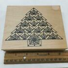 Stars Christmas Tree XL Outlines Rubber Stamp 006