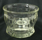 Vintage Clear Heavy Thick Glass Paneled Possible Drug Store Candy Bowl No Lid