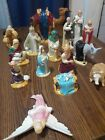 Vtg Christmas Nativity HOLLAND MOLD Hand Painted Ceramic 15 Piece Set