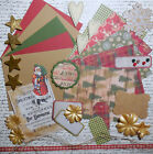 Card Making Kit Cozy Christmas Paper  Embellishments to Create 5 Cards