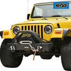 EAG Front Bumper with D Rings Rock Crawler Fit 87 06 Jeep Wrangler TJ YJ