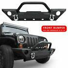 Front Bumper with Winch Plate D rings Fits 2007 2018 Jeep Wrangler JK Offroad