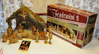 FONTANINI THE COLLECTIBLE CRECHE FROM ROMAN 14 FIGURES  STABLE w ORIGINAL BOX