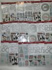 Lot 100 Recollections CHRISTMAS  clear stamps  Dies Sets
