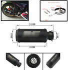 Inlet 51mm Motorcycle Muffler Pipe with Net - (All Black) Modified Exhaust Pipe