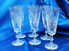 Six PINWheel Bohemian 24 Lead Crystal 6 Flute Champagne glasses 75 tall