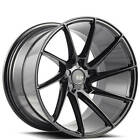 4 20 Staggered Savini Wheels Black Di Forza BM15 Gloss Black Rims B6