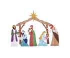 Christmas Nativity Scene 62 in Life Size LED Lights Indoor Outdoor Yard Decors