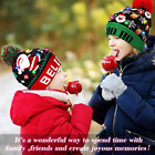 Christmas Beanie Light Up Hat Knit Crochet LED Light Hat Xmas Cap for Adult Kids