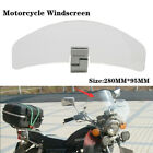 1X Motorcycle Front Fairing Clip Heightening Windshield Spoiler Air Deflector