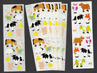 Mrs Grossman Stickers Farm Animals Sheep Cows Rooster Pig 8 Strips