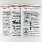 Stampendous Lot Of 3 Clear Stamp Sets Birthday Wish Happy Messages Encouraging