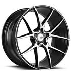 4 19 Savini Wheels BM14 Machined Black Rims B8