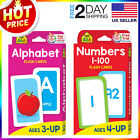 English Alphabet  Numbers 1 100 Flash Cards Toddlers Kids Preschool Early Learn