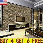 3D Wall Paper Brick Stone Rustic Effect Self adhesive Wall Sticker Home Decor US