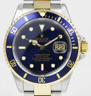 Rolex Oyster Perpetual Submariner 16613 18K/SS - Blue Dial/Bezel (2004)