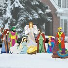 Christmas Decorations Super Deluxe Nativity Yard Scene 9pc Set Outdoor Decor New