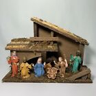 Italian Christmas Nativity Set Manger Scene 8 Figures Made In Italy Vintage