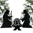 Christmas Decorations Silhouette Nativity Yard Signs 3pc Set Outdoor Decor New