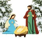 Christmas Decoration Nativity Scene Yard Dcor 3 pcs Set New Outdoor Decor