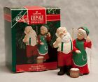 Vintage Hallmark Mr & Mrs Claus Popcorn Party w/ Box 1990