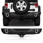 Front Rear Bumper Offroad Guard With D-rings For Jeep Wrangler Jk 2007-2018