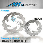 Front Rear Brake Disc Rotor Fit HUSABERG FS C FS E 400 450 650 01-03 03-08