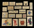LOT OF 20 STAMPABILITIES WOOD MOUNTED RUBBER STAMPS BRAND NEW
