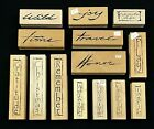 LOT OF 14 ART IMPRESSIONS WOOD MOUNTED RUBBER STAMPS BRAND NEW