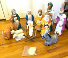 Vtg 60s Blow Mold Nativity Set Poloron Xmas Creche Jesus Wise Men Shepherd Farm