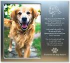 Pet Memorial Personalized Metal 4x6 Picture Frame Gift for Loss of Dogs or Cats