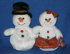TY COOLSTON & COOLSTINA SNOWMEN BEANIE BABIES SET - MINT with MINT TAGS