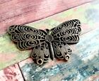 Large Butterfly Pendant Connector Link Antiqued Bronze Spring Charm Chandelier B