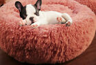 Pet Bed for Dog Cat puppy Round plush Mat Soft calming Warmer bed for winter