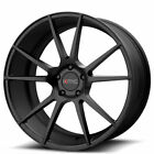 4 20 KMC Wheels KM709 Flux Satin Black Rims B6