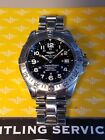 BREITLING SUPEROCEAN PROFESSIONAL A17360 AUTOMATIC STEEL DIVER WRIST WATCH MINT!