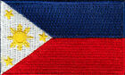 PHILIPPINES FLAG Iron On Patch 2 1 2