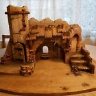 Vintage Anri Stable for 4 or 5 Nativity or Stage for Imagination