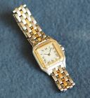Ladies Cartier Panthere Watch Single gold band new battery