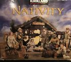 Kirkland Signature Nativity Set Creche Elaborately Dressed Elegant Flocked Anmls