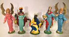 Vintage Plastic Nativity Figures Fontanini Made In Italy 3 Wisemen
