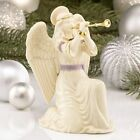 Lenox First Blessing Nativity Kneeling Angel With Trumpet Horn Figurine New