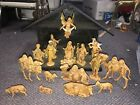 VINTAGE ITALY FONTANINI NATIVITY DEPOSE SET 18 PC LOT 1983 In Crche 5 Scale