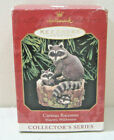 CURIOUS RACCOONS~3RD IN THE MAJESTIC WILDERNESS SERIES~1999 HALLMARK ORNAMENT