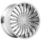 4 22 Velocity Wheels VW11 Chrome Rims B4