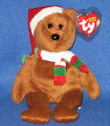 TY 2008 HOLIDAY TEDDY the BEAR BEANIE BABY - MINT with MINT TAGS