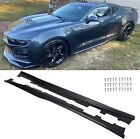 For 16 20 Camaro RS SS EOS ZL1 Style BLACK Side Skirts Panel Extension Body